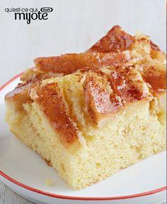 Gâteau kuchen aux pommes #recette Vanilla Cake, Desserts, Fat, Real Simple, Healthy Slow Cooker, Sweet Recipes, Food, Tailgate Desserts, Deserts
