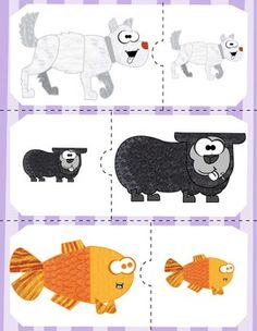 Working on the concepts of big and/or small, or maybe opposites? Check out these simple big and small puzzles using the characters from Brown Bear! Circle Time Activities, Autism Activities, Animal Activities, Speech Therapy Activities, Montessori Activities, Animal Games, Book Activities, Big Animals, Big And Small