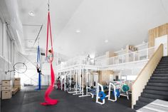 Image 9 of 18 from gallery of La Taule - Training Center / Architecture Microclimat. Photograph by Adrien Williams Fitness Gym, Fitness Workout For Women, Fitness Shirts, Fitness Style, Fitness Design, Grand Prix, Gymnastics Center, Gym Architecture, Cultural Architecture