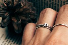 Small letter alphabet ring twist form Sterling by FidemStudio
