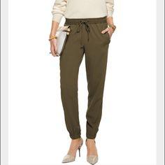 "Michael Kors Track pant New with tags. Drawstring waist. Safari green. Track pant. 30"" inseam. Stretchy. Polyester, viscose, elastane Michael Kors Pants Track Pants & Joggers"