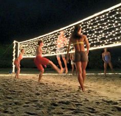 | perfect night with volleyball and friends, yes please
