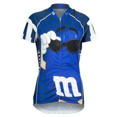"""Brainstorm Gear Women's M&M's """"Signature"""" Cycling Jersey Ms Blue, Unique Cycling Jerseys, Women's Cycling Jersey, Mtb Bicycle, Cycling Outfit, Cycling Clothing, Sport Bikes, Shorts, Clothes"""