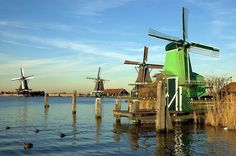 Zaanse Schans is a short train ride from Amsterdam. It is a quaint hamlet that has become a living history village featuring early life in The Netherlands.
