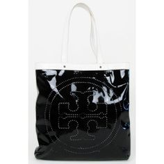 Tory Burch Black Patent Leather Large Tote