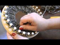 Knitting Patterns Lace Loom Knitting Diamond Lace Stitch, K 1 Round Loom Knitting, Loom Knitting Stitches, Loom Knitting Projects, Lace Knitting Patterns, Knifty Knitter, Loom Patterns, Knitting Videos, Loom Crochet, Crochet Shorts