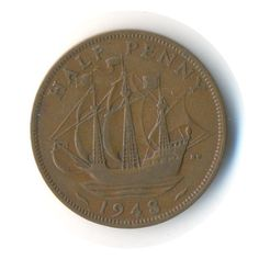 George VI Half Penny 1948 Coin Code: JMC0974 by COINSnCARDS