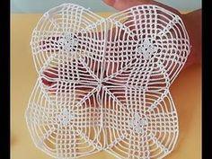 Kare motif yapılışı&crochet - YouTube