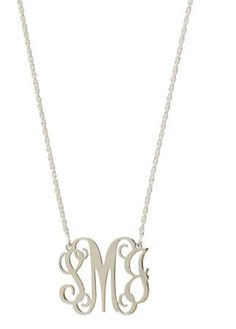 Sterling Silver Filigree Monogrammed Necklace.  Perfection!