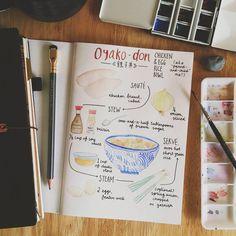 #midorimornings 217/365 Doodling last night's dinner recipe - definitely a keeper!