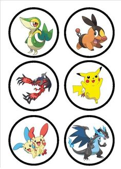 Imprimibles de Pokemon GO - stickers pokemon go - etiquetas candy bar pokemon go