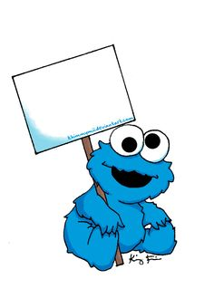 Cookie Monster clipart border - pin to your gallery. Explore what was found for the cookie monster clipart border Baby Cookies, Cookies Et Biscuits, Festa Cookie Monster, Cookie Monster Drawing, Muppet Babys, Baby Elmo, Monster Clipart, Monster Baby Showers, Monster Decorations