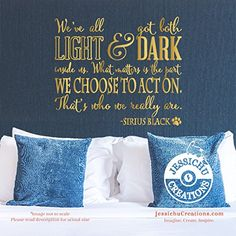 We've all got both light and dark v2 - Harry Potter Inspired Geeky Book Wall Vinyl Decal