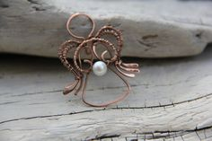 Pearl of my Heart Guardian Angel copper and by Keepandcherish, $23.00