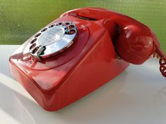 Original Vintage Retro 1970's GPO 746 Rotary Dial Red Telephone *Restored*