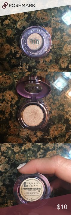 Urban Decay Eyeshadow Midnight Cowboy Pink champagne shimmer color. Purchased at Ulta. Urban Decay Makeup Eyeshadow