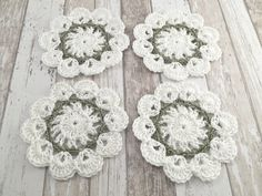 Set of 4 coasters for drink cups or glasses by SandyCraftUK