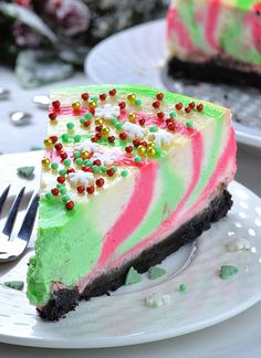 Christmas Cheesecake (with-spinkles)
