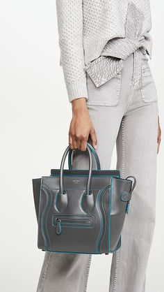 Go Around, Celine Bag, Vintage Boutique, Smooth, Grey, Leather, How To Wear, Handbags, Style