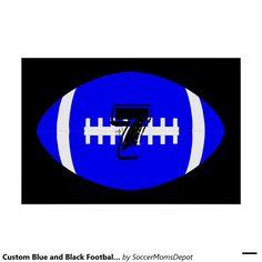 Custom Blue and Black Football Poster