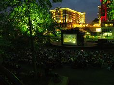 Free Moonlight Movies in the park. Wednesdays in May and September.