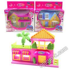 Купити Будинок, 2 поверхи, з меблями, фігурками, в коробці 18х18х6 см оптом. Вигідна ціна в Україні!