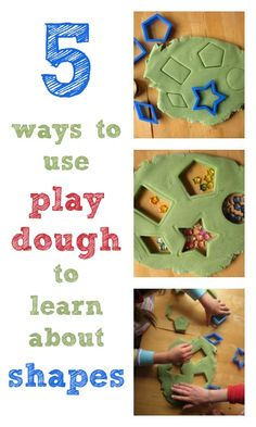 Use Play-Doh to explore shapes in your classroom!