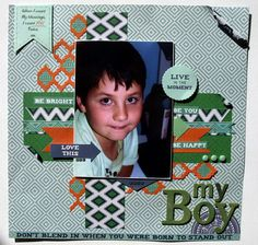"Fiesta layout ""My Boy"" by Colllette Mitrega Design Team Kaisercraft - Wendy Schultz ~ Scrapbook Pages 3"