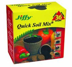 Jiffy 5611 Quick Soil Mix Pellets - 36 Pack by Jiffy. $9.99. Seed Starting. Indoor Gardening. 36 Quick Soil Mix Plants