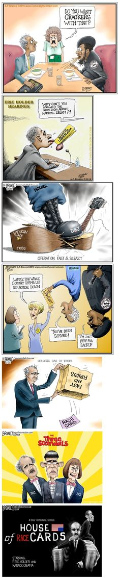 Before we loose our beloved Attorney General, let's review the fun times we've shared...Eric Holder Cartoons In Review