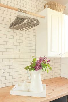 46 Easy Diy Laundry Room Makeover With Farmhouse Style – Decorating Ideas - Home Decor Ideas and Tips - Page 15 Basement Laundry, Laundry Room Storage, Laundry Room Design, Storage Organization, Storage Ideas, Diy Storage, Laundry Closet, Small Laundry, Bathroom Storage