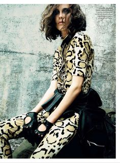 Into The Wild: Ariane P By Richard Bernardin For Elle Canada September 2014