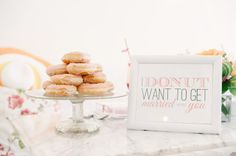 Wedding donut | http://fabmood.com/wedding-donuts/