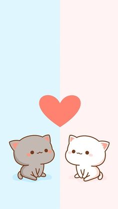 cat wallpaper Image about cute in beautiful by mauveemerald Cute Panda Wallpaper, Cute Couple Wallpaper, Bear Wallpaper, Cute Disney Wallpaper, Kawaii Wallpaper, Wallpaper Iphone Cute, Wallpaper Spongebob, Chibi Wallpaper, Animal Wallpaper