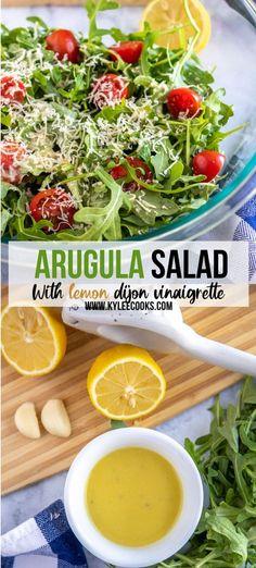 Side Salad Recipes, Salad Dressing Recipes, Veggie Recipes, Vegetarian Recipes, Cooking Recipes, Healthy Recipes, Salad Dressings, Sweets Recipes, Parmesan