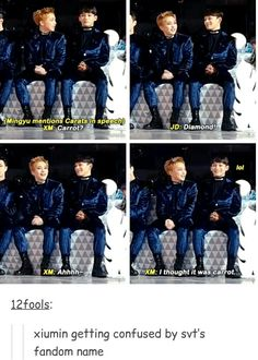 When I first became a Carat, I got confused too Minseok. It's so funny how he's the oldest and yet :)