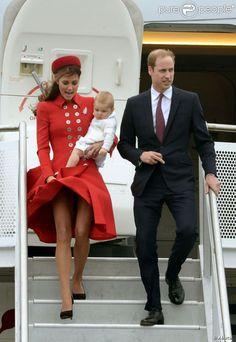 Kate Middleton, George et William en Nouvelle-Zélande : Ébouriffante arrivée !
