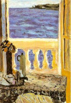 Pierre Bonnard (1867-1947) - Fenêtre ouverte sur la mer  1918-19