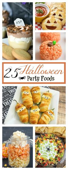Fun and Easy Halloween Food Ideas. Have fun with these fun halloween party foods, perfect for all occasions. #halloweenpartyfood #halloween #partyfood #halloweenfood Hallowen Food, Fete Halloween, Halloween Food For Party, Halloween Treats, Halloween Stuff, Halloween Baking, Halloween Dinner, Halloween 2019, Spooky Halloween