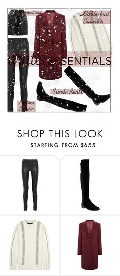 """Show Off Your Winter Wardrobe Staples"" by fashionbrownies ❤ liked on Polyvore featuring Joseph, Stuart Weitzman, Alexander Wang, winterstyle, winteressentials and winterstaples"
