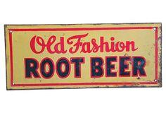 Midcentury Old Fashion Root Beer Sign on OneKingsLane.com