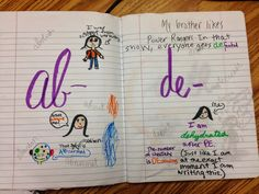 Have kids illustrate prefixes, suffixes, and roots to better remember what each means!