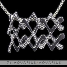 The Aquarius/Aquarius Unity Pendant is a beautiful and meaningful way to share and express the love between a Aquarius and a Aquarius. Unity Pendants are cast in Bronze with a thick Sterling Finish and come with a SIlver finished necklace. Also presented in a truly unique two metal (pure silver a...