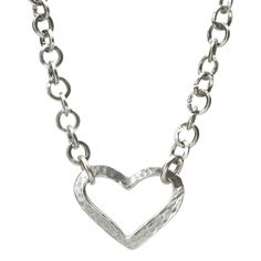 Danon Silver Links Necklace With Open Heart Pendant from official Danon Jewellery stockists Lizzielane Was 49 Now Only £44.10 http://www.lizzielane.com/product/danon-silver-links-necklace-with-open-heart-pendant/