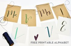 Free printable alphabet for bunting and crafting