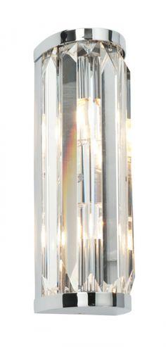 CRYSTAL double - krištáľové svietidlo do kúpeľne - 260mm