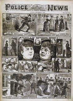"""IS HE THE WHITECHAPEL MURDERER?"" The Illustrated Police News etc (London, England), Saturday, September 22, 1888; Issue 1284"