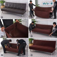 How to install Sofa Cover? Futon Slipcover, Sofa Bed, Slipcovers, Unique Furniture, Diy Furniture, Best Futon, Couch Protector, Futon Covers, Bunk Bed Designs
