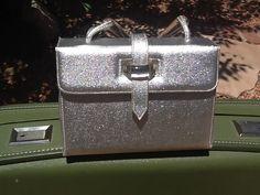 50s Metallic Silver bobbie jerome Handbag w/ Unique by KatsMeoww, $28.00