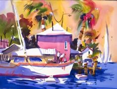 In this free watercolor lesson, watercolor artist Frank Francese demonstrates his technique used in painting a colorful, tropical beach s...
